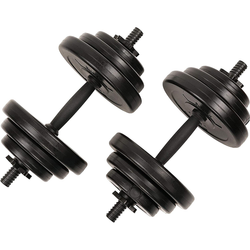 Exercise Vinyl 40 Lb Dumbbell Set Hand Weights - Open Box