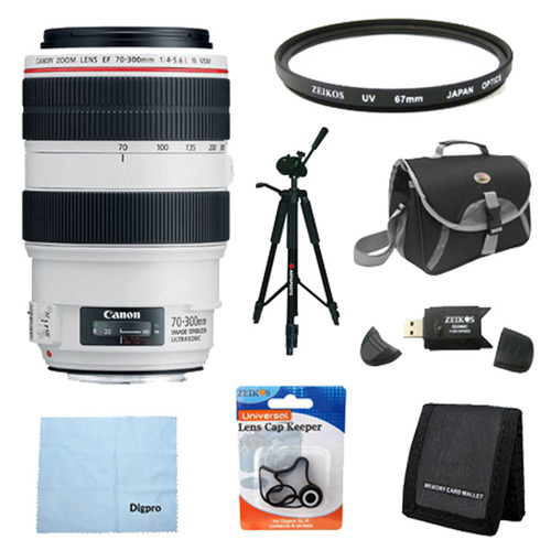 Canon EF 70-300mm f/4-5.6L IS USM UD Telephoto Zoom Lens Exclusive Pro Kit