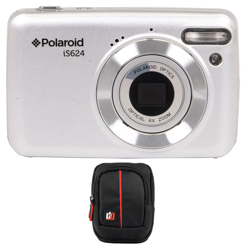 Vivitar Polaroid IS624 16MP 6x Optical Zoom Digital Camera (Silver) with Deco Gear Case