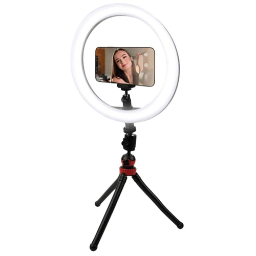Vivitar 10-Inch Streaming Essentials LED Ring Light with Spider Tripod and Phone Mount