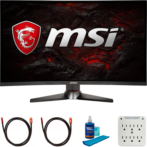 MSI Optix 24` FHD 1920x1080 1ms FreeSync Curved Gaming Monitor + Cleaning Bundle