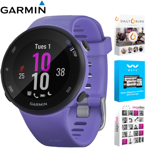 Garmin Forerunner 45S GPS HRM Running Smartwatch (Renewed) + Fitness & Wellness Suite