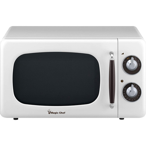 Magic Chef 0.7 Cu Ft 700 Watt Retro Countertop Microwave - MCD770CB (White)