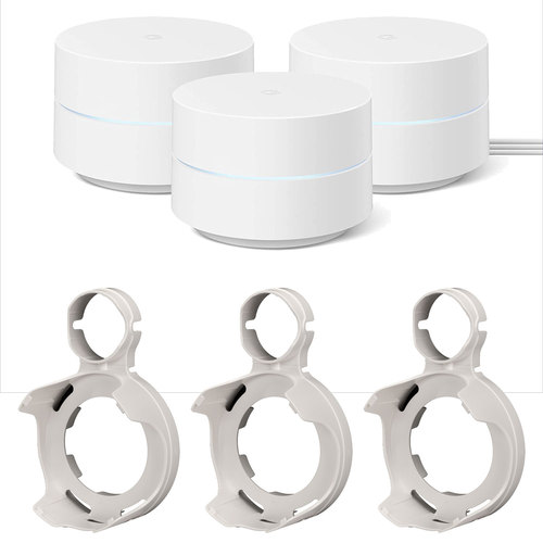 Google Wifi Mesh Network Router AC1200 Point (3pk) with Outlet Wall Mount (3pk) Bundle