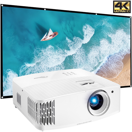 Optoma 4K UHD Home Theater & Gaming Projector UHD30 (Renewed) +120` Home Theater Screen