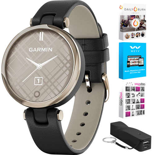 Garmin 010-02384-A1  Lily Classic Edition Watch + Fitness Bundle