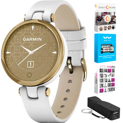 Garmin 010-02384-A3 Lily Classic Edition Watch + Fitness Bundle