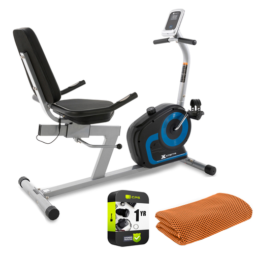 XTERRA Fitness SB120 Seated Recumbent Exercise Bike + Towel and Extended Warranty