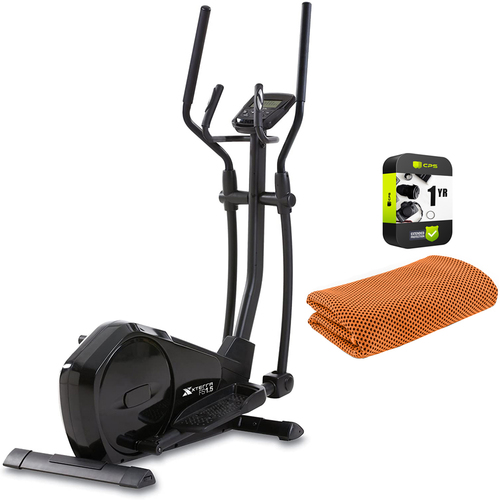 XTERRA Fitness FS1.5 Elliptical Machine Trainer Black + Warranty Bundle