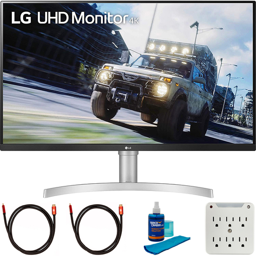 LG 32` UHD 3840x2160 VA HDR10 AMD FreeSync Monitor with Cleaning Bundle