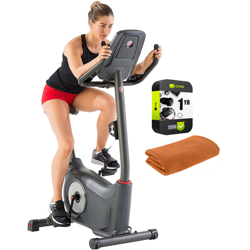 Schwinn 170 Upright Bike with 1 Year Extended Warranty and Towel
