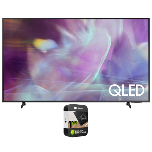 Samsung QN43Q60AA 43 Inch QLED Q60A 4K Smart TV + Premium 1Year Extended Protection Plan