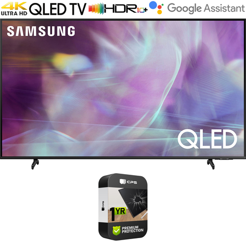 Samsung QN50Q60AA 50 Inch QLED TV 2021 with Premium 1 Year Extended Protection Plan