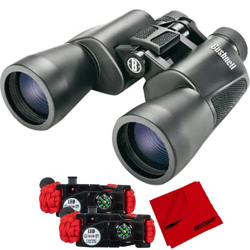 Bushnell PowerView 20x50mm Super High-Powered Surveillance Binoculars +Tactical SOS Pack