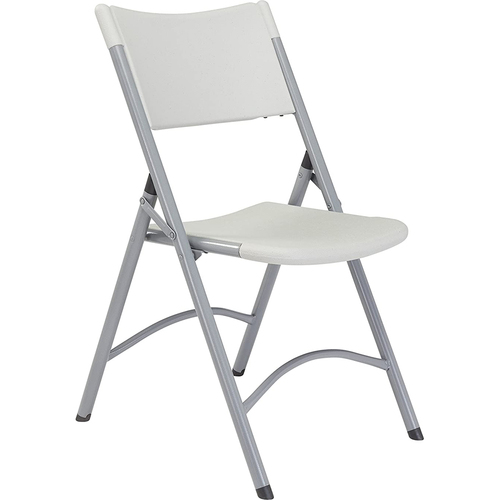 National Public Seating 600 Series Heavy Duty Plastic Folding Chair, Speckled Grey (Pack of 4)