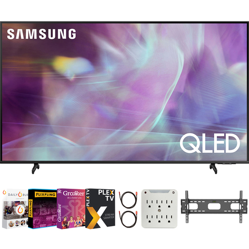 Samsung QN70Q60AA 70 Inch QLED 4K Smart TV (2021) + Movies Streaming Pack