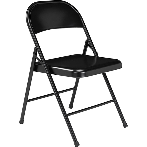 National Public Seating Commercialine All-Steel Folding Chair, Black (Pack of 4)
