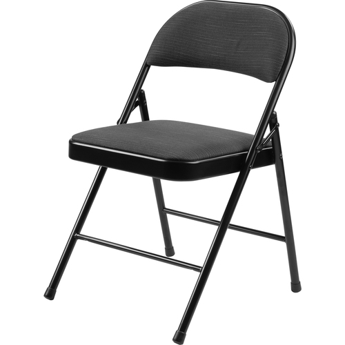 National Public Seating Commercialine 900 Series Fabric Padded Folding Chair, Star Trail Black (4)