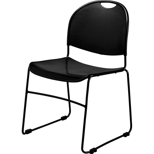 National Public Seating Commercialine Multi-purpose Ultra Compact Stack Chair, Black