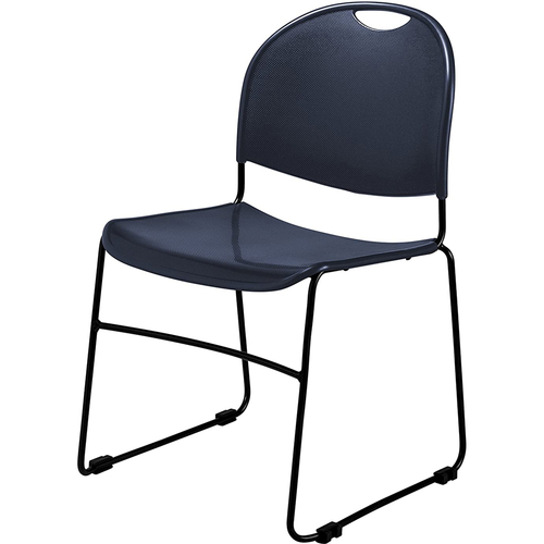 National Public Seating Commercialine Multi-purpose Ultra Compact Stack Chair, Navy Blue