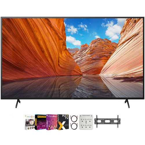 Sony 43` X80J 4K Ultra HD LED Smart TV 2021 Model with Movies Streaming Pack