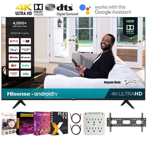 Hisense 75H6570G H65G 75` 4K UHD Android Smart TV + Movies Streaming Pack