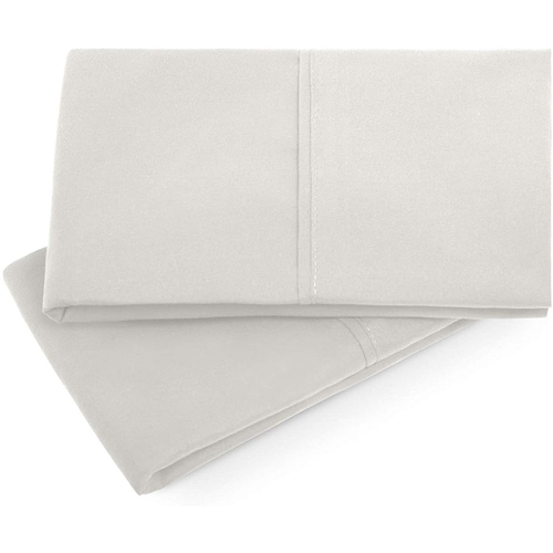 Malouf Brushed Microfiber Queen Driftwood Pillowcase Set of 2