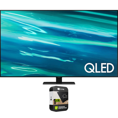 Samsung QN65Q80AA 65 Inch QLED 4K Smart TV (2021) with Premium Extended Protection Plan