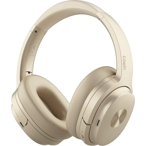 Cowin E7 Active Noise Cancelling Bluetooth Over-Ear Headphones, Gold