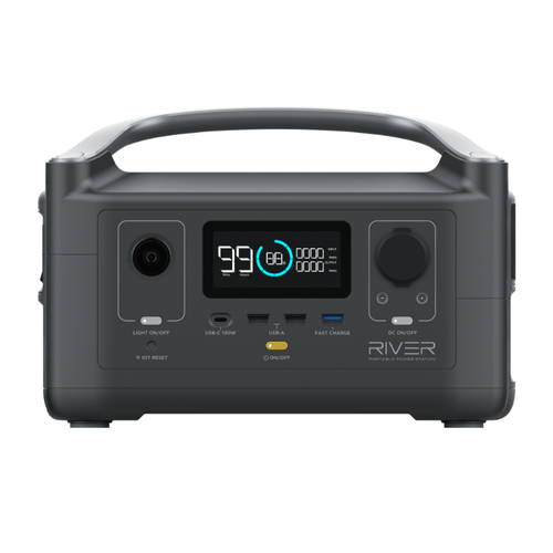 River 288Wh Portable Power Station Backup with Lithium Battery - EFRIVER600-AM