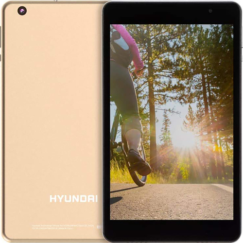 Hyundai Koral 8W2 8` Quad-Core RK3326 2GB/16GB Wifi Tablet, Gold - Open Box
