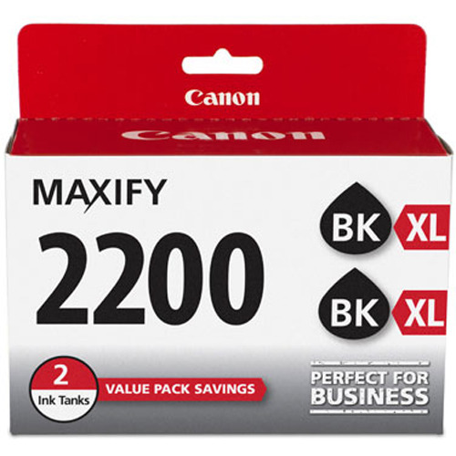 Canon MAXIFY PGI-2200 XL Black Pigment Ink Twin Pack