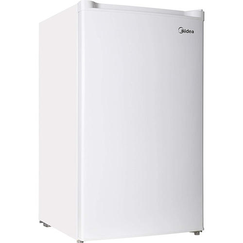Midea 3 Cubic Feet Single Reversible Door Upright Freezer in White - WHS-109FW1