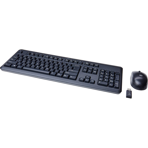 HP INC. - SB DESKTOP OPTIONS USB RF Wireless Ergonomic Keyboard and Mouse in Black - QY449AT#ABA
