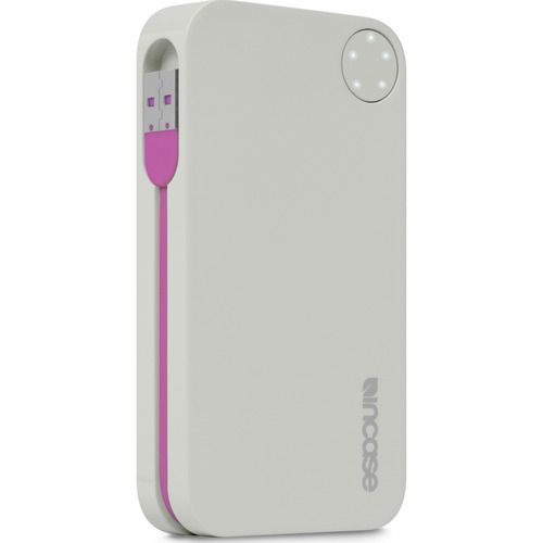 Incase Portable Power 5400 USB Charger - Grey/Magenta