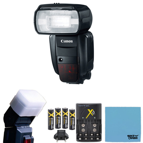 Canon Speedlite 600EX-RT Professional Camera Flash Battery Kit