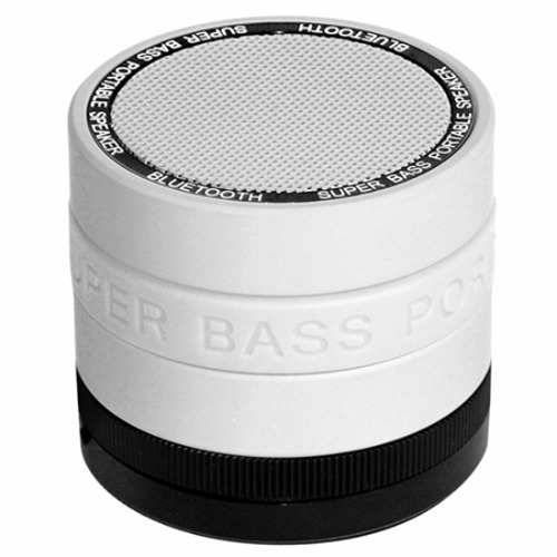 Portable Bluetooth Speaker with 8 Customizable Color Bands - White Speaker
