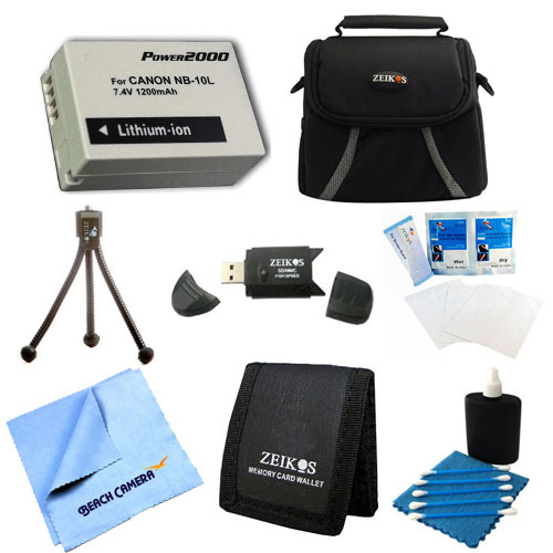Special Loaded Value NB-10L Kit For Canon Powershot SX40,SX50, G15,G16 & G1X