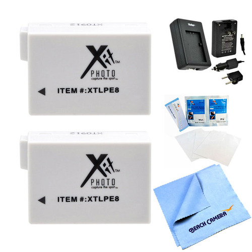Special 2 Battery Pack Kit for Canon EOS T2i, T3i, T4i, and T5i