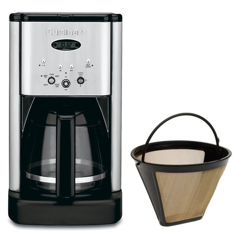 Cuisinart DCC-1200 Brew Central 12 Cup Programmable Coffeemaker Gold Tone Filter Bundle