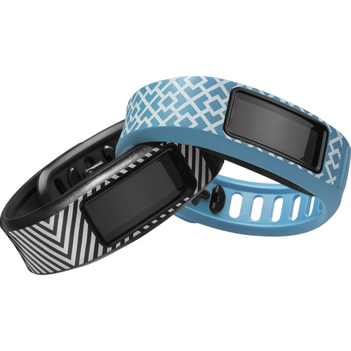 Garmin Vivofit 2 Fitness Band Style Collection Bundle Black/Cyan - English Packaging