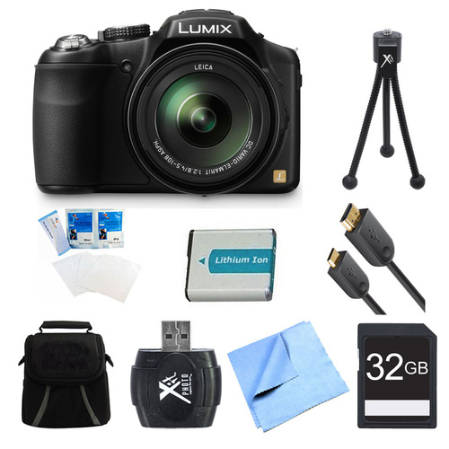 Panasonic LUMIX DMC-FZ200K Digital Camera 32GB and Battery Bundle