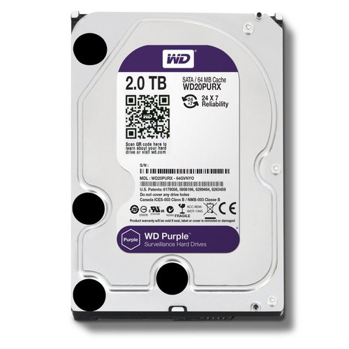 WD Purple WD20PURX 2TB Surveillance 3.5` Internal Hard Drive