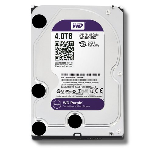 WD Purple WD40PURX 4TB Surveillance 3.5` Internal Hard Drive