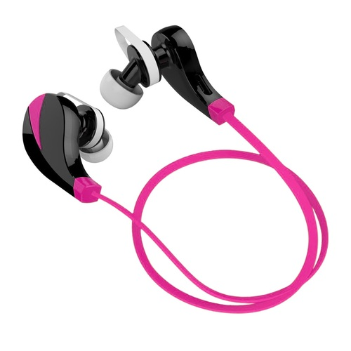 Hashub Goods Noise Reduction Wireless Bluetooth Lightweight Sport Headphones w/ Mic - Pink