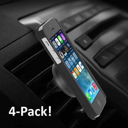 Hashub Goods Universal Car Air-Vent Magnet Clip Holder for Smartphones - 4 Pack
