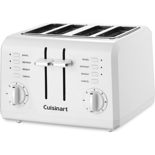 Cuisinart CPT-142 Compact 4-Slice Toaster (White) - Factory Refurbished