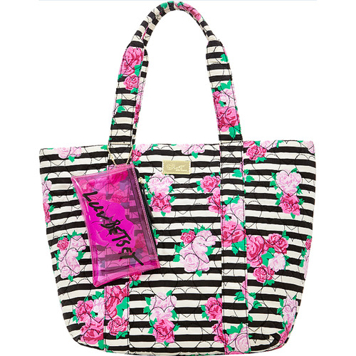 Betsey Johnson Parker Quilted Cotton Tote, Rose