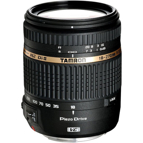 Tamron 18-270mm f/3.5-6.3 Di II VC PZD Aspherical f/ Canon DSLR With 6-Yr USA Warranty
