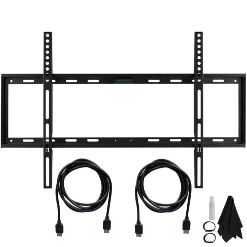 Slim Flat Wall Mount Ultimate Bundle Kit for 32-60 inch TVs